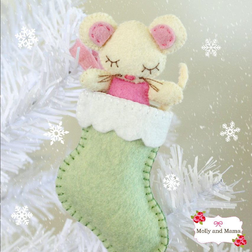 Stitch a felt Sugar Mouse - a Molly and Mama tutorial