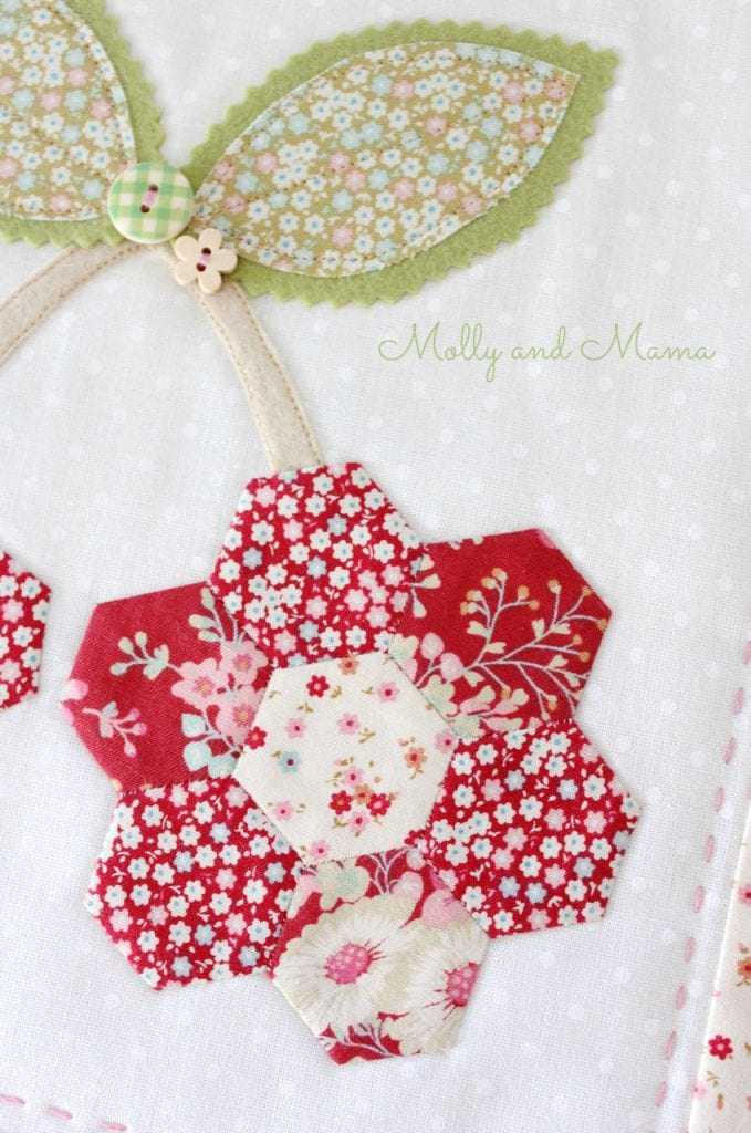Hexie Cherries by Molly and Mama