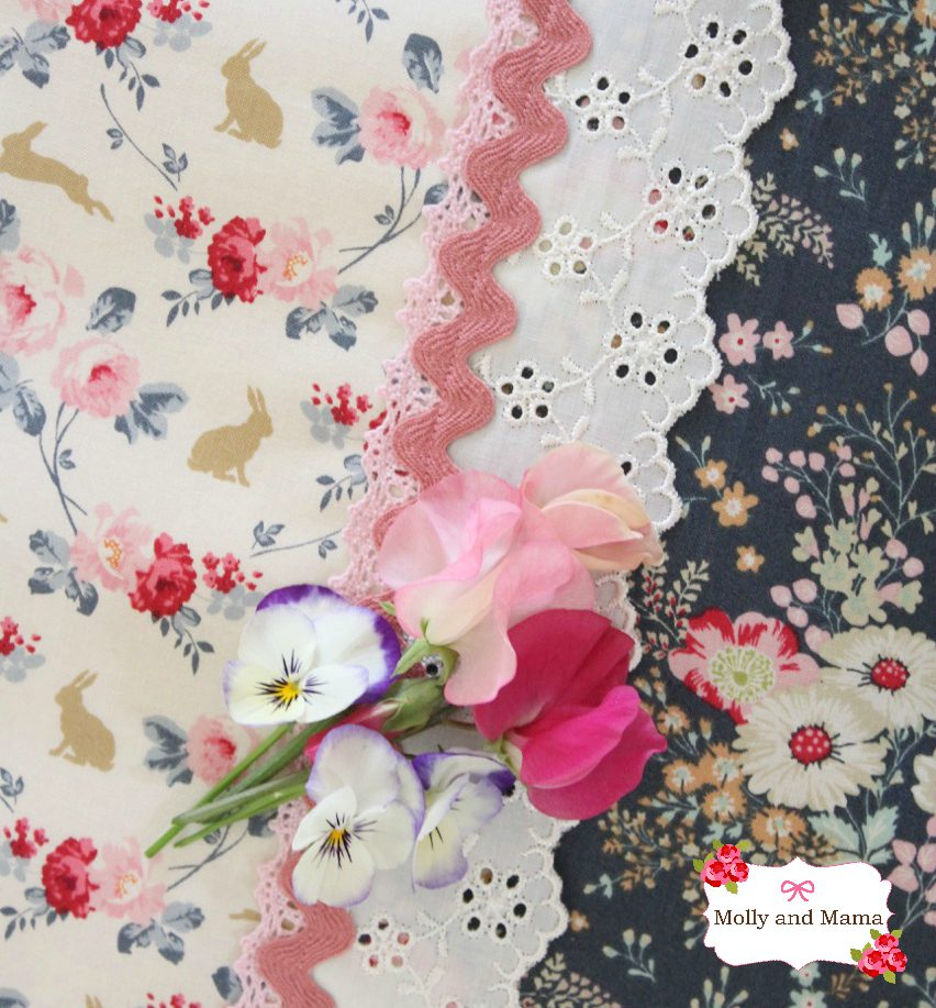 Tilda fabric and flowers