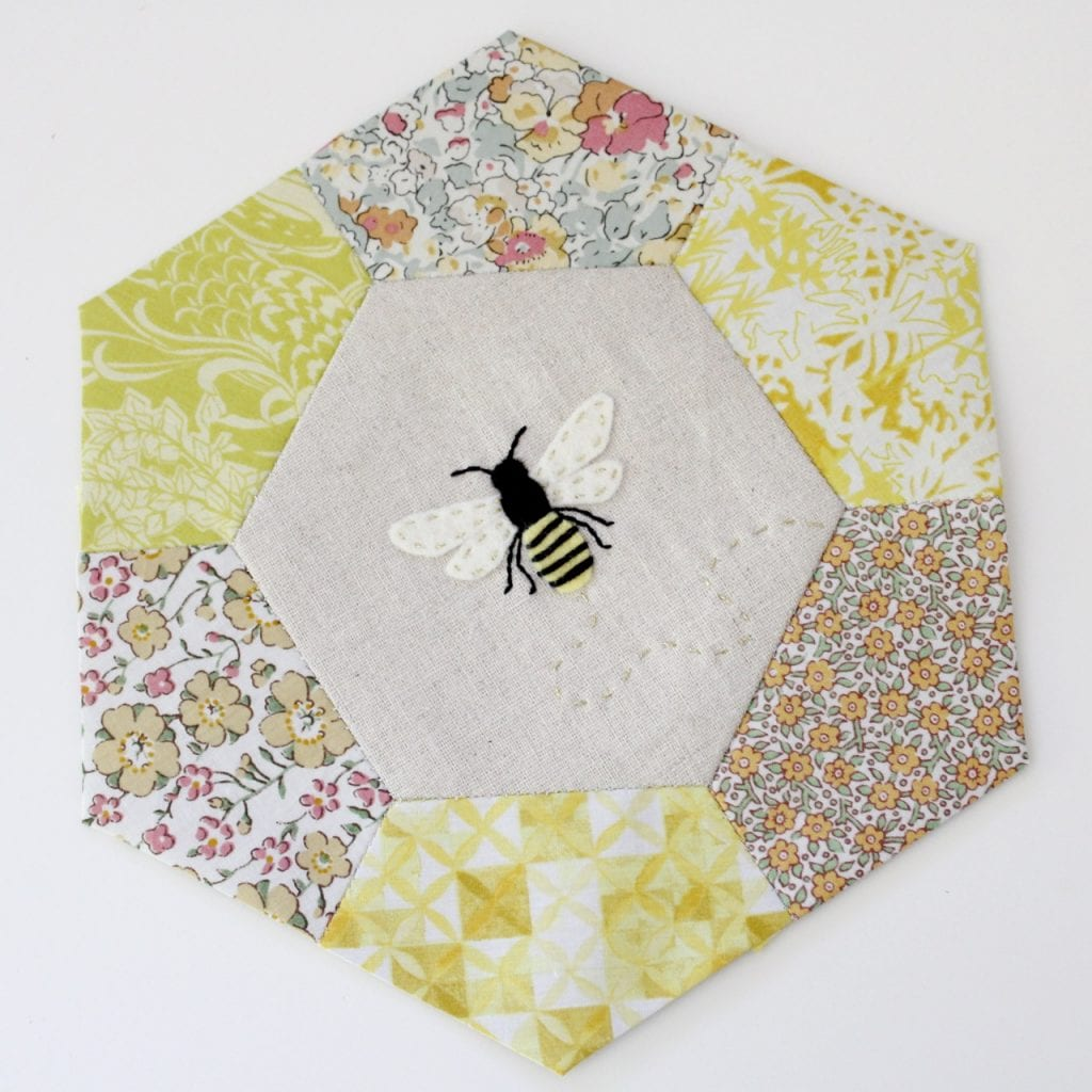 bees and paper pieced sweetness from Molly and Mama