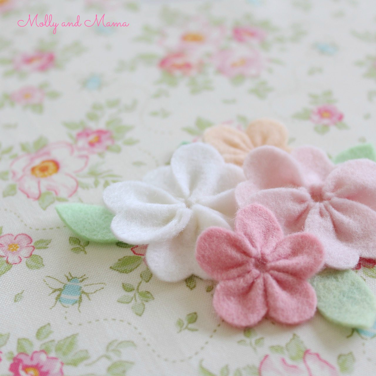 Felt flowers and pretty florals