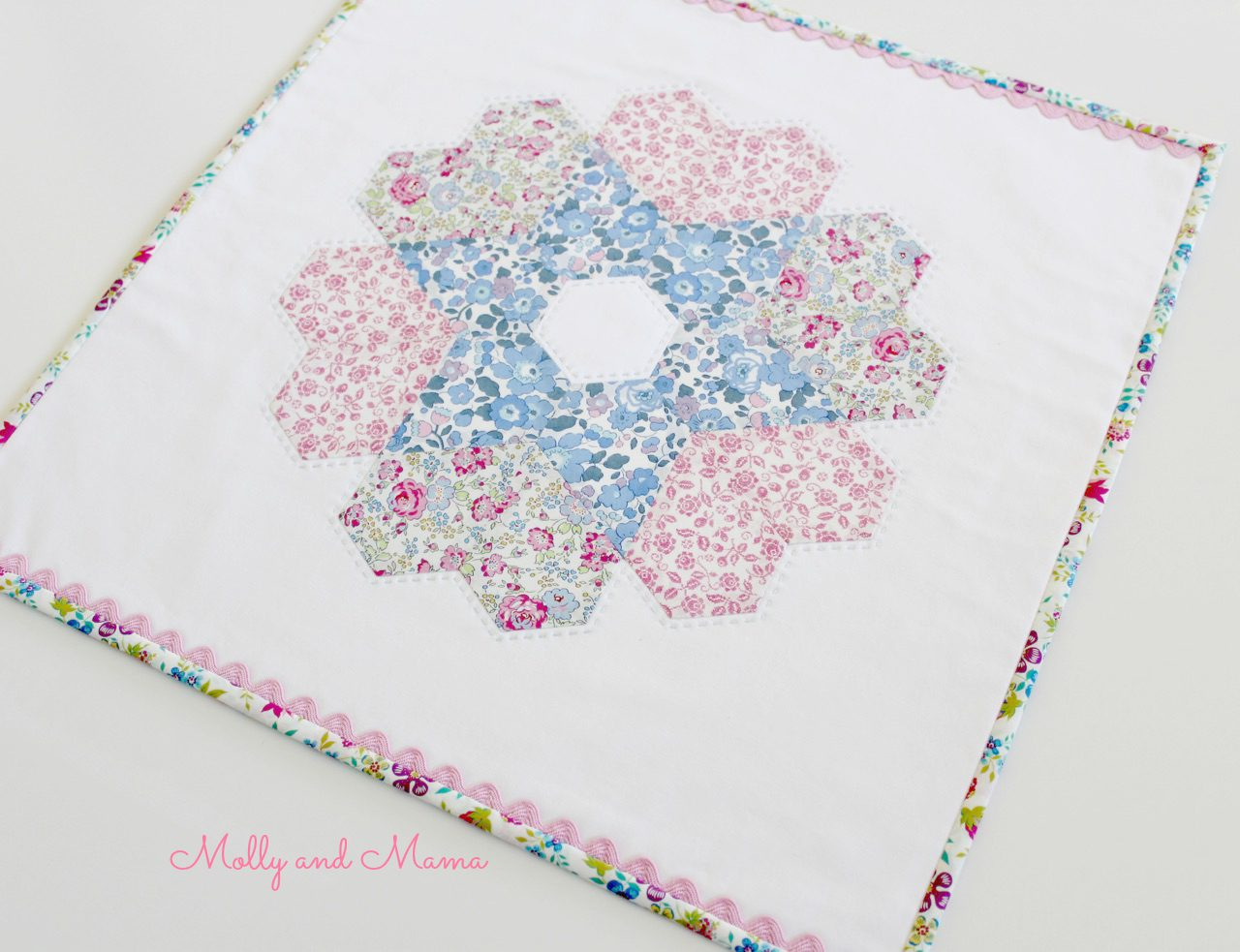 Love is in the Stars mini quilt designed by Fabric Direct